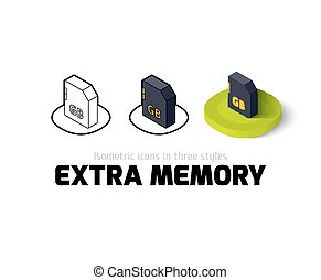 Extra memory icon in different style - Extra memory icon,...