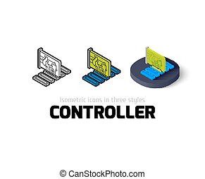 Controller icon in different style - Controller icon, vector...