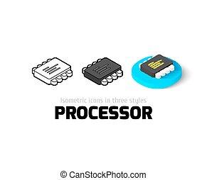Processor icon in different style - Processor icon, vector...