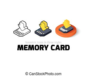 Memory card icon in different style - Memory card icon,...