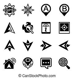 Vector Navigation icon set