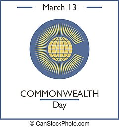 Commonwealth Day, March 13. Vector illustration for you...