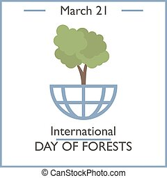International Day of Forest, March 21 Vector illustration...