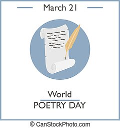 World Poetry Day, March 21. Vector illustration for you...