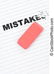 borrador, palabra, errores