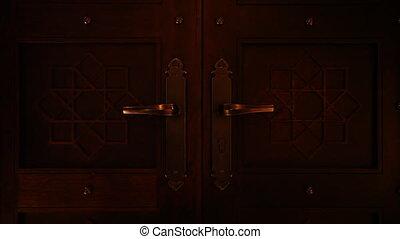 opening arabian door.mov - arabian door being opened and...