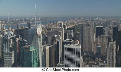pan shot manhattan central park - aerial view pan shot...