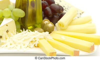 cheese assortment close high key, loop
