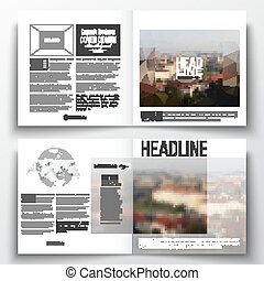 Set of annual report business templates for brochure,...