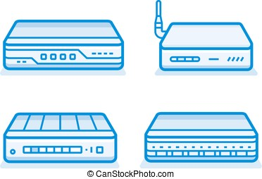 Network router icons - Soho network router icon set. Network...