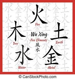 Five feng shui elements - Five Feng Shui Elements Set -...
