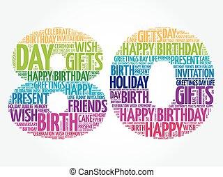 Happy 80th birthday word cloud