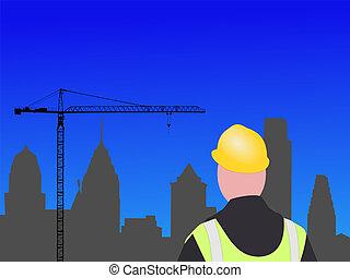 construção, Filadélfia, local
