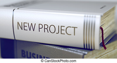 Book Title of New Project. 3D. - Stack of Books with Title -...