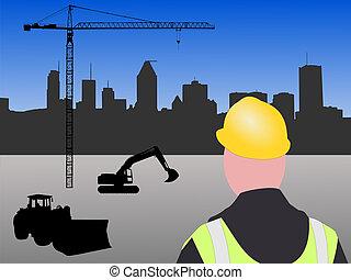 construção, local,  Montreal