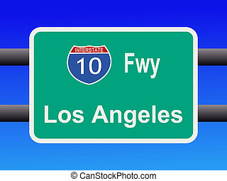 freeway to  Los Angeles sign