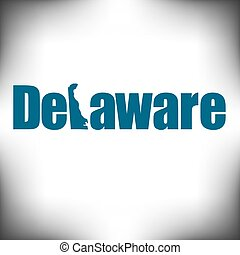 The Delaware shape is within the Delaware name in this state...
