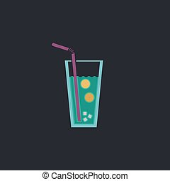 lemonade computer symbol - lemonade Color vector icon on...