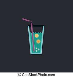 lemonade computer symbol - lemonade Color vector icon on...
