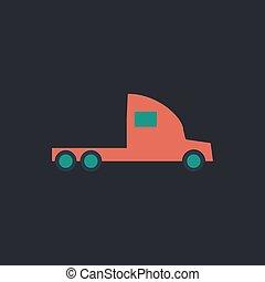 cargo truck computer symbol - cargo truck Color vector icon...