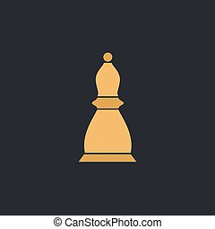 Chess bishop computer symbol - Chess bishop Color vector...