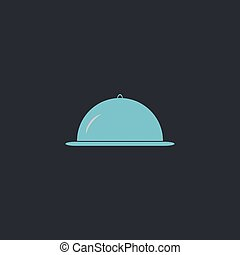 cloche computer symbol - cloche Color vector icon on dark...