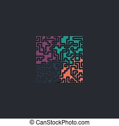 Labyrinth computer symbol - Labyrinth Color vector icon on...