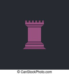 Chess Rook computer symbol - Chess Rook Color vector icon on...