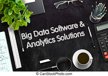Big Data Software and Analytics Solutions Concept 3D render...