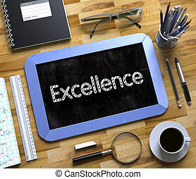 Small Chalkboard with Excellence Concept 3D - Excellence...