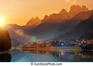 Auronzo Di Cadore Sunset - Auronzo Di Cadore Scenic Sunset....
