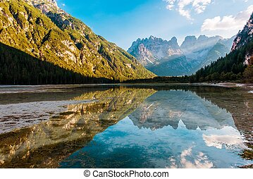 Dolomites Lago di Landro - The Dürrensee or Lago di...