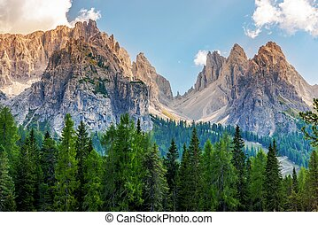 Scenic Dolomites Vista South Tyrol, Italy Mountain Landscape...