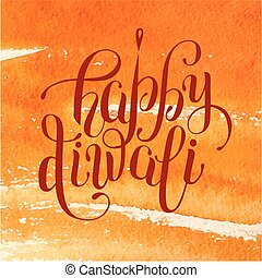 happy diwali lettering inscription on hand drawing...