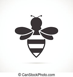 Bee vector icon - Bee icon on white background