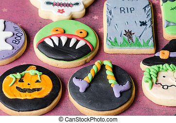 Halloween homemade cookies - Halloween homemade gingerbread...