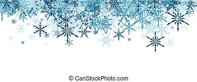 Winter banner with blue snowflakes - White winter banner...