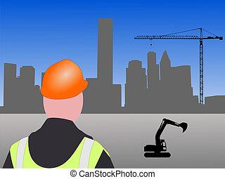 houston, construção, local