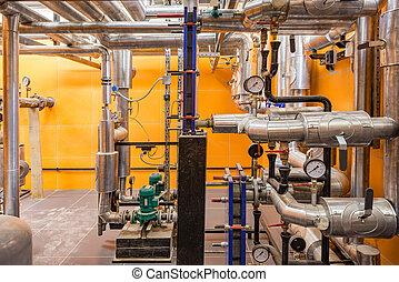 Boiler room in the basement.