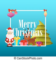 Poster Christmas with Santa Claus
