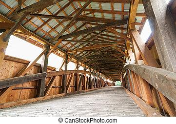 Interior, coberto, ponte
