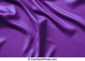 Texture satin. silk background. shiny wavy pattern canvas. color fabric, cloth purple