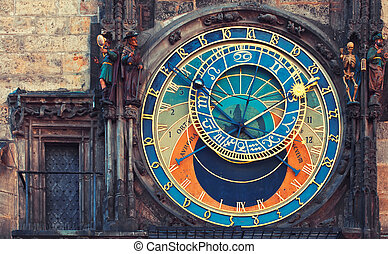 Astronomical clock in Prague - Astronomical clock in Town...