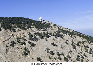 Radar Mount Ventoux protecting airspace, it is called today...