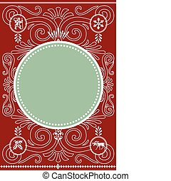 Holiday Vector Frame and Pattern