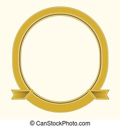 Vector Oval Frame - Illustrated frame, easy to change colors...