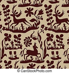 Vector Seamless Animal Pattern
