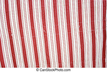 White and red awning at home decor and apparel