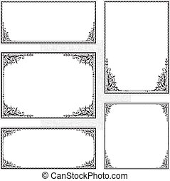 Vector Frame Set - Decorative set of matching frames Perfect...