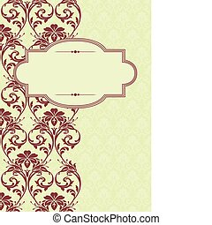 Vector Holiday Frame and Pattern